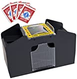 Brybelly GSHU-002.Free-18*4 4 Deck Card Shuffler with 4 Free Decks of Bicycle Playing