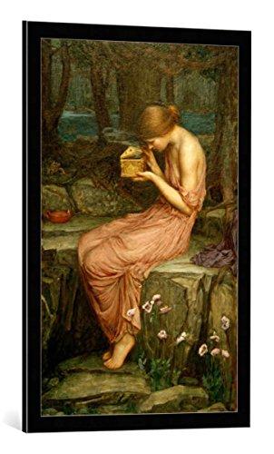 (kunst für alle Framed Art Print: John William Waterhouse Psyche Opening The Golden Box - Decorative Fine Art Poster, Picture with Frame, 21.7x33.5 inch / 55x85 cm, Black/Edge Grey)