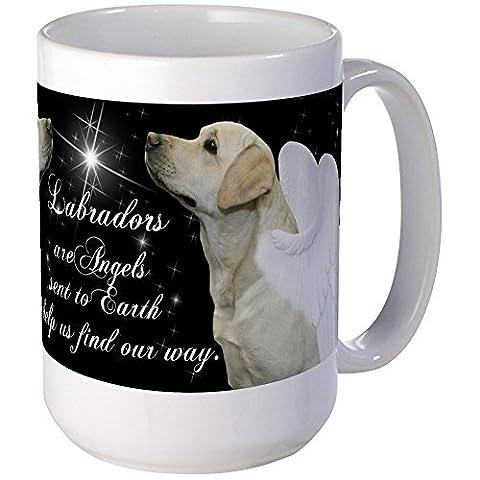 CafePress - Yellow Lab Angel - Coffee Mug, Large 15 oz. White Coffee Cup - Labrador Coffee