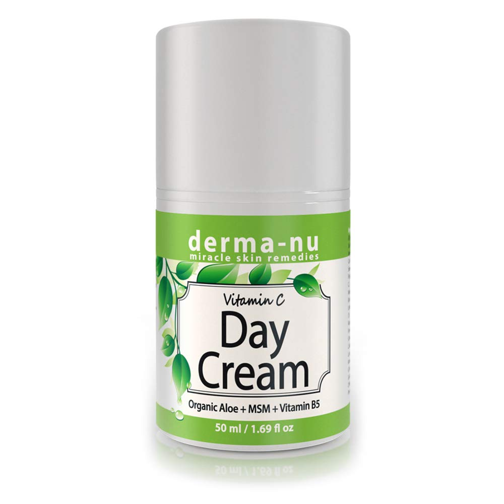 Anti Aging Vitamin C Cream - Organic Natural Face Moisturizer - Combat Spots Wrinkles and Dark Circles - All Ages and Skin Types