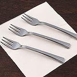 Efavormart 180 Pcs - 1.5'' Disposable Plastic Silver Dessert Forks - Premiere Collection
