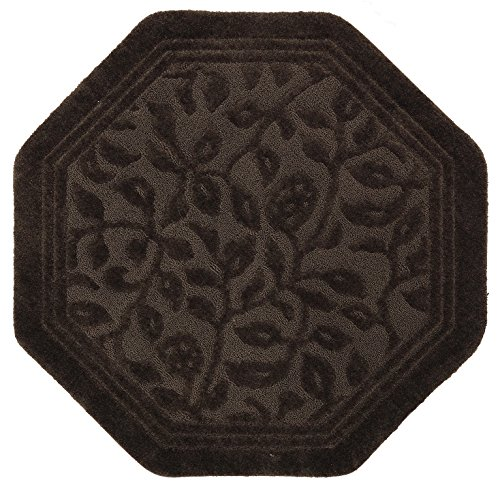 Mohawk Home Wellington Chocolate Vine Scroll High Low Plush Octagon Bath Rug, 48x48, Brown