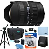 Sigma 8-16mm f/4.5-5.6 DC HSM FLD AF Zoom Lens for Canon DSLR Camera Includes Bonus Xit 60'' Full Size Photo / Video Tripod, and More