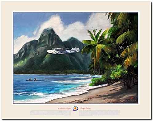 THE HONOLULU CLIPPER PACIFIC PIONEER by Jack Fellows - Boeing Model 314 Clipper - Aviation Art Print