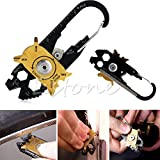 Stebcece 20 In 1 Stainless Steel Wrench Screwdriver Opener Keychain Pocket EDC Multi Tool