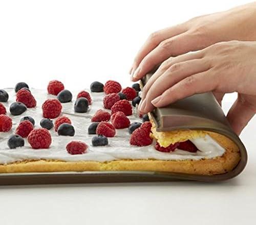 Macaron pastel Pad Bakeware herramienta de cocina marr/ón molde de silicona antiadherente multifuncional para hornear rodillo YuamMei 1 pieza suiza rollo de alfombrilla para tartas