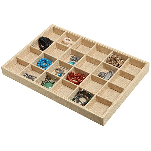 Jewelry Display Showcase Organizer Beige