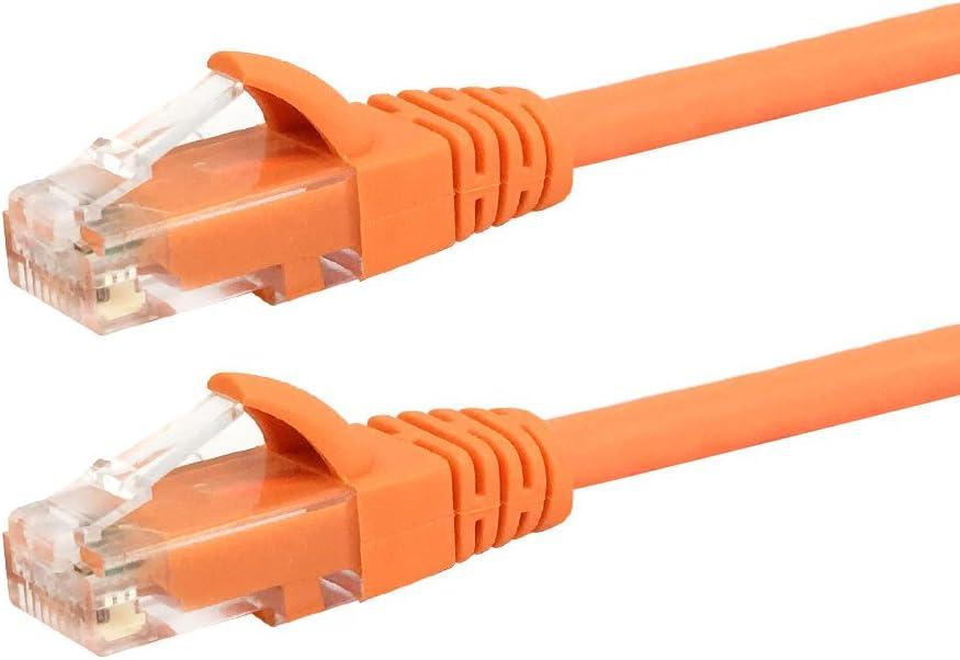 Orange 15ft RJ45 Cat5e 350MHz Molded Patch Cable
