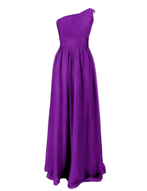 Dressystar Damen Chiffon Ein Schulter Abendkleid Partykleid Maxi-Stil Kleider Frauen