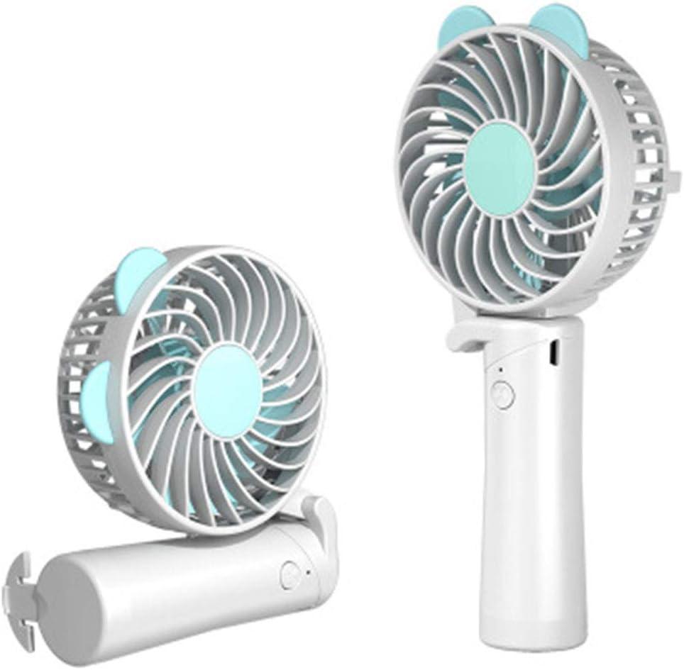 Mini Handheld USB Small Fan Creative Folding Desktop Convenient Desktop Charging Fan for Kids Women Men Indoor Outdoor Travel,B
