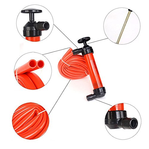 Awakingdemi Car Manual Hand Siphon Pump ,Portable Manual Oil Pump Siphon Tube Car Hose Liquid Gas Transfer Sucker by Awakingdemi (Image #5)