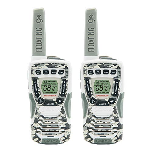 Cobra CXT1095FLTCW Walkie Talkies 37-Mile Two-Way Radios, Rechargeable (Camo White, Pair)