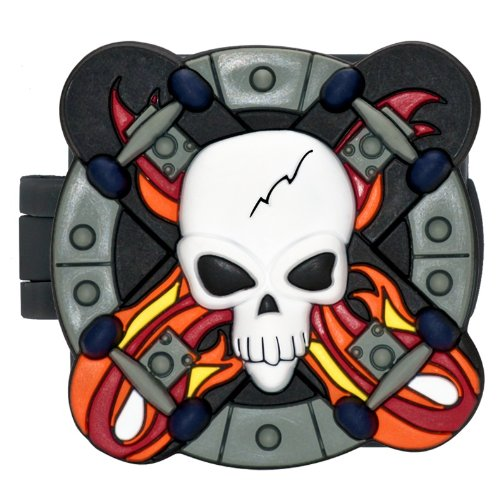GeoPalz Kids Skull and Skateboards Digital Tri-Axis Motivational Pedometer for Walking, Running and Earning Prizes by GeoPalz