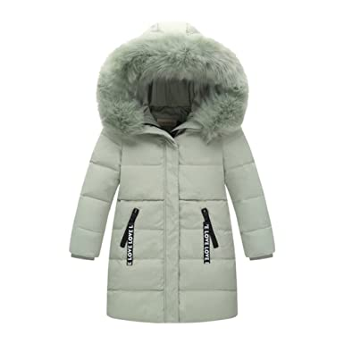 28f03ab0c500 Amur Leopard Korea Style Kids Girls Boys Long Thick Warm Duck Down ...