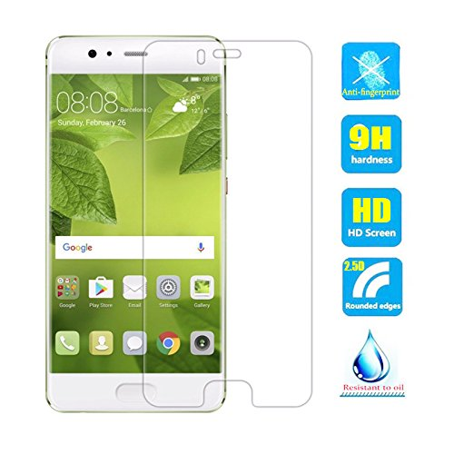 2pcs Clear Tempered Glass Crystal Screen Protector film for Huawei P10 Standard Edition 5.1 inch VTR-AL00 VTR-L09 VTR-L29 VTR-TL00 Scratch Resist 9H Hardness