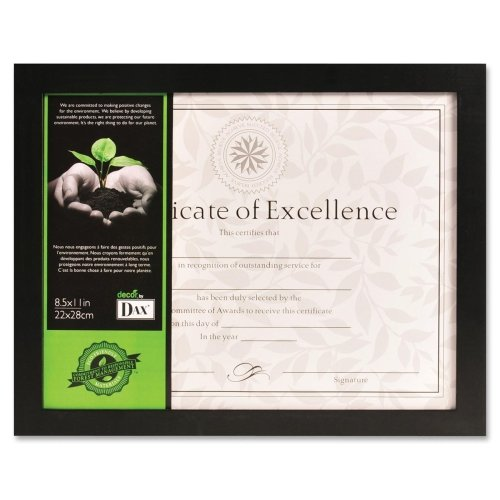 Wholesale CASE of 15 - Burns Grp. Solid Wood Tabletop Picture Frames-Photo/Document Frame, Solid Wood, 8-1/2''x11'', Black