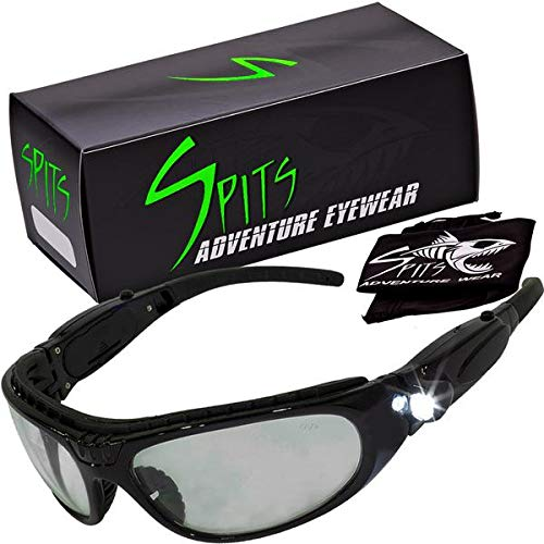 Spits Eyewear Safelight LED Lighted Safety Glasses in Clear