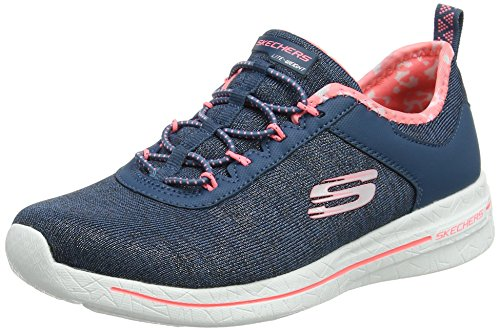 Skechers Ladies Burst 2.0-sunny Side Instructor Blue (navy / Pink)
