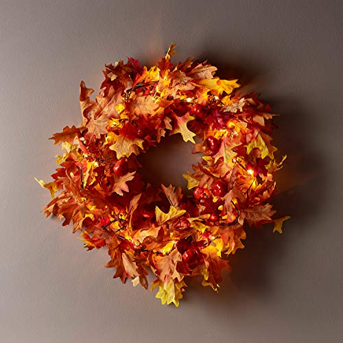Lights4fun, Inc. Fall Leaf & Pumpkin 16