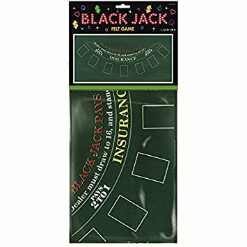 PARTY DISCOUNT NEU Tischdecke Black Jack aus Filz, 94x182 cm