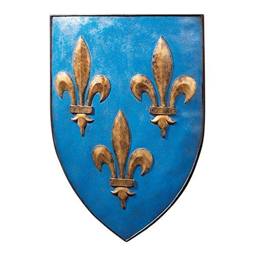 Design Toscano Grand Arms of France Wall Shield Collection- Fleur-de-Lis Shield