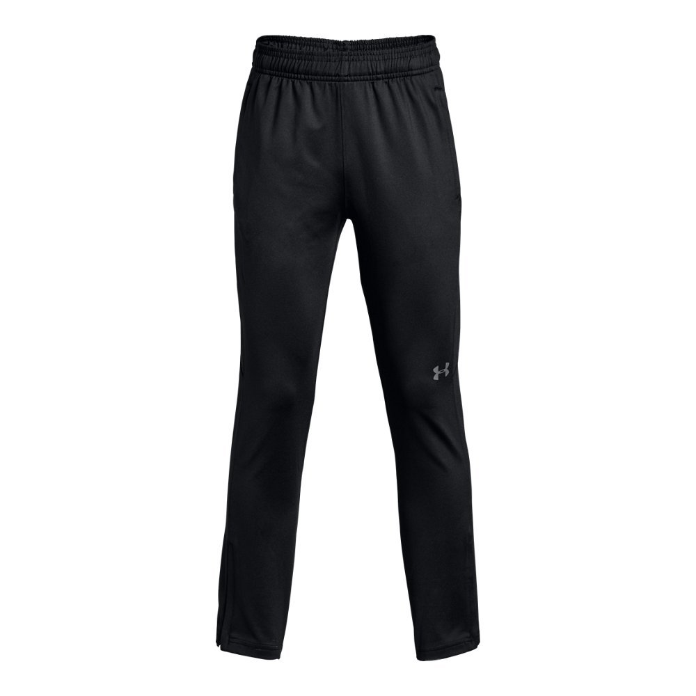 Under Armour Boys' Challenger II Training Pants, Black (001)/Graphite, Youth Small