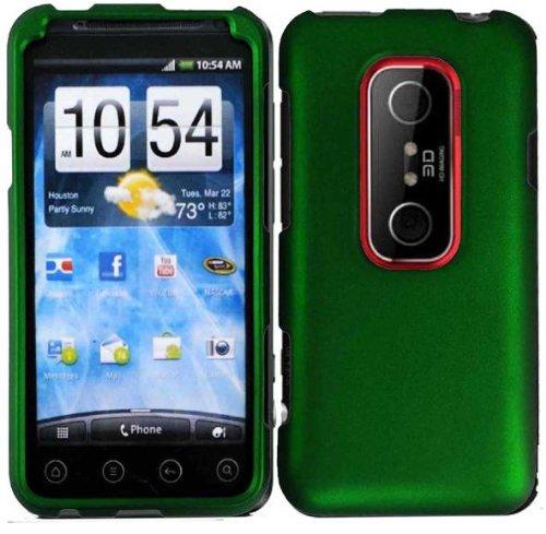 Dark Green Hard Case Cover for Virgin Mobile HTC Evo V 4G HTC Evo 3D (Phones Virgin Mobile 3d Htc Evo)