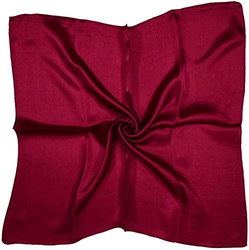 Wine Pure Silk (Deep Red Wine Small Pure Silk Square Scarf)