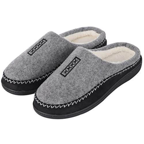 Cozy Fluffy Memory Gery Slip Home on Clog Outdoor Slipper Slippers Foam Indoor House Shoes Mens 0x0t6C