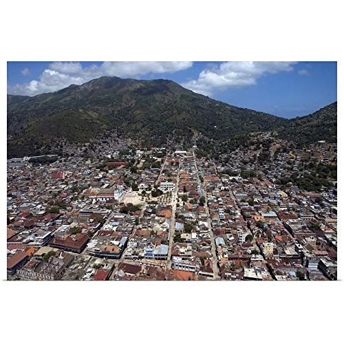 GREATBIGCANVAS Poster Print Entitled Cap Haitian City Aerial by 18