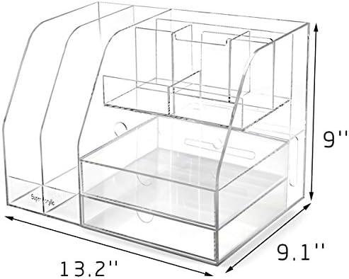 Biyi Klare PMMA Visitenkarte-Halter-Ausstellungsstand Schreibtisch Desktop-CountertopBusiness Kartenhalter Schreibtisch Regal Box Transparent