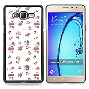 Stuss Case / Funda Carcasa protectora - Papel regalo Modelo blanco lindo del dibujo - Samsung Galaxy On7 O7