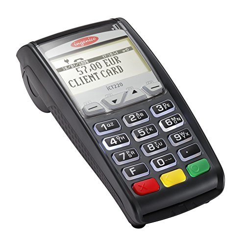 - ELAVON Compatible Ingenico ICT220 Dual Com Terminal with Apple Pay and EMV/Smart Card Reader