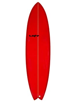 Light Stinger Tabla de Surf Mixta, Stinger, Rojo