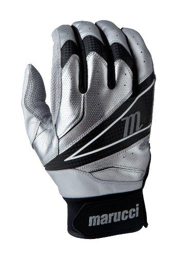 Marucci 2014 ELITE Batting Gloves, Silver, Small