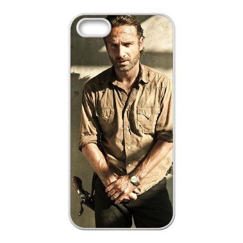 The Walking Dead 013 coque iPhone 4 4S cellulaire cas coque de téléphone cas blanche couverture de téléphone portable EOKXLLNCD20332