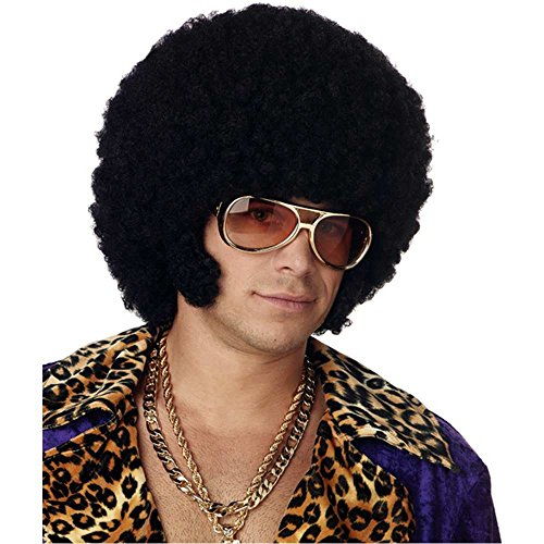 Men's Afro Wig with Sideburn Chops