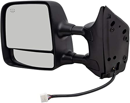 Dual Arms Heat Fits 04-15 Titan Left Driver Telescopic Tow Mirror Power Chrome