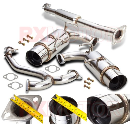 N1 Dual Mufflers Exhaust System (SCION FRS FR-S HI POWER N1 DUAL CATBACK EXHAUST SYSTEM WITH 4