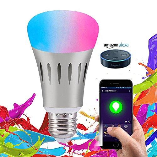 WiFi Smart LED Light Bulb,Works with Amazon Alexa, Color & Brightness Changing, 5 Watts (50Watts Equivalent)