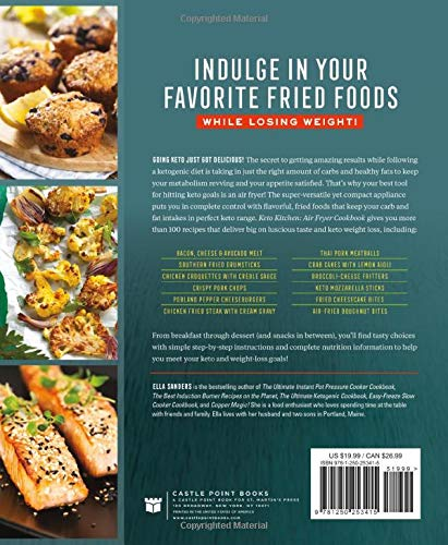 Keto Kitchen Air Fryer Cookbook Over 100 Healthy Fried Recipes For The Ketogenic Diet Sanders Ella 9781250253415 Amazon Com Books