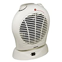 Oscillating Fan Heater with Thermostat White - 1 Year Direct Manufacturer Warranty