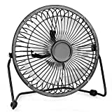 Air Choice USB Table Fan, 6 Inch Mini Desk Use with 4.6ft Cable, Portable & Personal for Home & Office Quiet and Powerful, Cools You Down in Hot Summer, Medium, Brown
