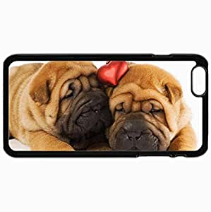 Personalized Protective Hardshell Back Hardcover For iPhone 6 Plus, Shar Pei Design In Black Case Color Avai Unique diy case