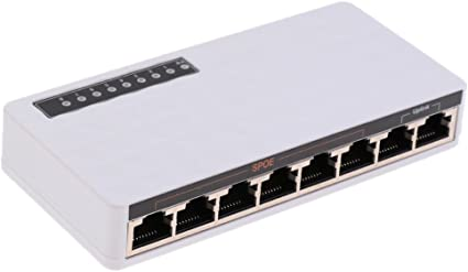 8Port Fast Ethernet SPoE Switch Plug /& Play Desktop Splitter for network cam