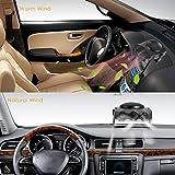 DEALPEAK 12V 2 in 1 Car Truck Auto Cool Fan