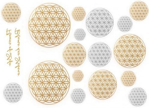 De metal para el diseño de la flor de la Vida - diseño de tatuaje ...