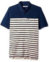 Ben Sherman Men's Slub Breton Stripe Polo