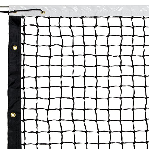 42' Tennis Net & Winch Cable with Carry Bag - Full Size Replacement Net for Indoor & Outdoor Tennis Courts by Crown Sporting Goods