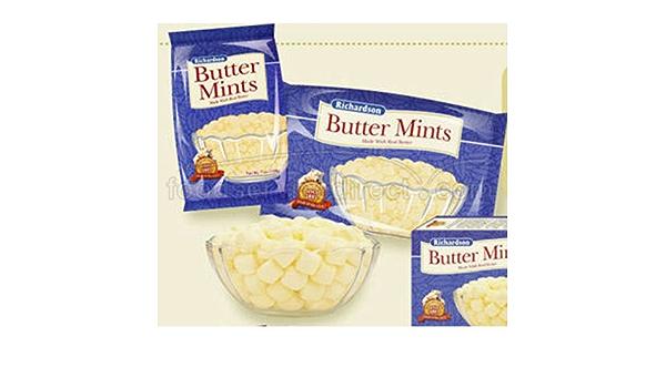 Amazon Com Richardson Butter Mints 25 Lb Bulk Case 1 Per Case Candy Mints Grocery Gourmet Food